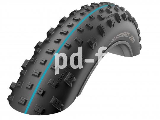 """Jumbo-dick, aber dennoch sehr leicht ist der Fatbike-Reifen """"Jumbo Jim"""" von Schwalbe. Er lässt sich mit sehr wenig Luftdruck fahren und ist ideal auf tiefen Böden und sehr losen Untergründen."""