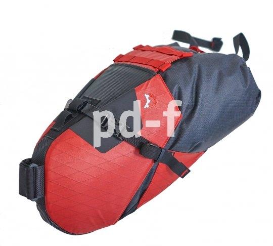 Eigens auf sportliche Räder ohne Trägersystem sind große Satteltaschen wie diese. Sie nehmen viel Gepäck auf und lassen sich sicher an Sattel und Stütze befestigen.