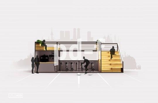 So kann eine Fahrrad-Abstellanlage aussehen: viel Platz für die Räder, sichere Bügel zum Anschließen, alles unter einem begehbaren Dach.