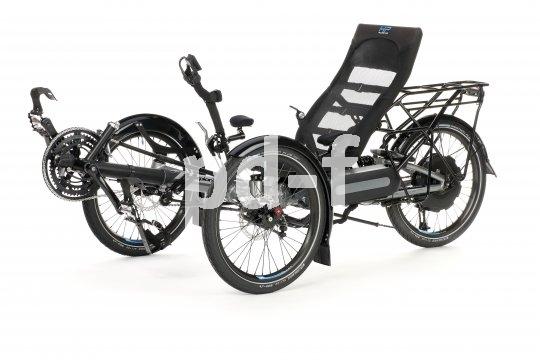 Auch Liegedreiräder sind mit elektrischer Unterstützung erhätlich. So ist das höhere Gewicht kein Thema mehr.