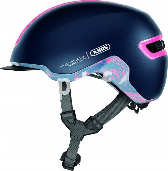 Der Gurtverteiler unter dem Ohr nennt sich Trivider und soll für optimalen Sitz sorgen. Die Schließe unter dem Kinn funktioniert magnetisch.