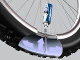 Pannenschutzflüsigkeit ersetzt den Flicken und schützt vorbeugend gegen Plattfüße aufgrund kleinerer Durchstiche.