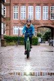 """Von Velotraum, dem Spezialisten für individuell konfigurierbare Fahrräder, kommt das """"Speedster SP2E"""", ein Reiserad mit Mittelmotor und elektronischer Schaltung. Räder und Bremsen stammen aus dem Mountainbike-Bereich."""