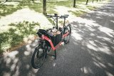 """Das """"Packster 40"""" von Riese & Müller ist ein kompaktes Lastenrad mit wendigem Fahrverhalten."""