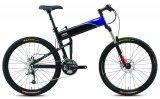 Falträder werden auch mit größeren Laufrädern angeboten. Nur der Klappmechanismus muss entsprechend angepasst werden. Hier ein hochwertiges geländegängiges Exemplar.