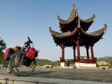 Pavillon einer Raststätte entlang der G312 in der Provinz Gansu.