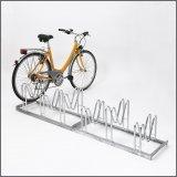 Wo Fahrrad nicht angeschlossen werden müssen, etwa auf bewachten Stellplätzen, reicht eine solche Abstellanlage aus.