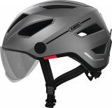Mit der zunehmenden Nutzung von Pedelecs und schnellen S-Pedelecs kommen entsprechend angepasste Helme auf den Markt. Hier der Abus Pedelec 2.0 in der Version mit abnehmbarem Visier.