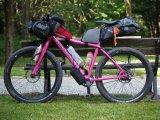 Ein Expeditionsfahrrad anno 2018: Das Gepäck wird in Bikepacking-Taschen übers Rad verteilt, so bleiben Fahrdynamik und Geländegängigkeit erhalten. Plus-Bereifung, hier von der Gattung Gravel-Bike geborgt, bringt ordentlich Traktion und Komfort.