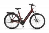 Das klassische Citybike ist heute immer häufiger in seiner elektrifizierten Variante anzutreffen. Akku und Motor sind gut in den Rahmen integriert und damit gegen äußere Einflüsse geschützt, der Durchstieg ist tief und die Sitzposition aufrecht.