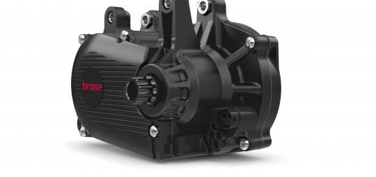 """Motorenhersteller Brose hat mit seinem Modell """"Brose Drive S Mag"""" einen besonders leichten und kleinen Mittelmotor im Angebot, der sich gut in Fahrradrahmen integrieren lässt (nur an Kompletträdern erhältlich)."""