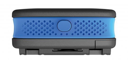 """Seitenansicht der """"Alarmbox"""" von Hersteller Abus. Das ist ein fest am Fahrrad montierter Signaltongeber. Einmal scharf geschaltet setzt der Alarm ein, sobald das Rad bewegt wird."""