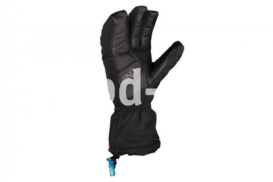 """Wenn es richtig eisig wird, ist der """"Sturmfist 4"""" von 45North der richtige Handschuh auf dem Rad: Innen wärmt Merino-Wolle, eine Aerogel-Isolierung schützt den Handteller vor Wärmeabfluss über den Lenker, die Außenhülle ist wind- und wasserabweisend."""