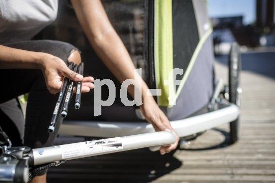 Das Mitführen von Anhängern ist dank spezieller Achsen auch an Rädern mit Steckachsen möglich.