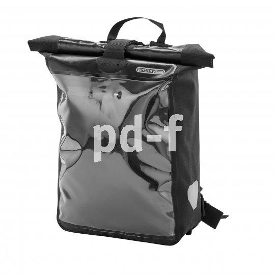 """Schlank, durchdacht und im Profi-Einsatz bewährt ist die """"Messenger-Bag Pro"""" von Taschenspezialist Ortlieb. Schmaler Schnitt, hoher Rollverschluss, ausknöpfbare Innentasche (als Hüfttasche tragbar) und sinnvolle Polsterung sind ihre Pluspunkte. Dazu kommt eine stabile Klarsicht-Einstecktasche im A3-Format, etwa für Werbeplakate."""