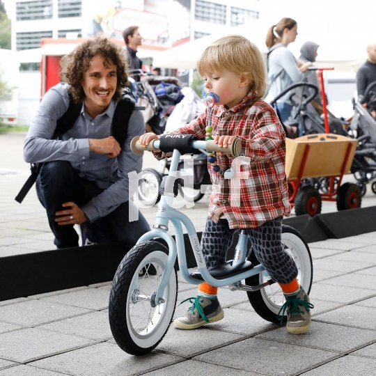 Auch die Kleinsten sind gern gesehene Gäste auf der Eurobike.