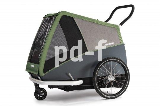 """Fahrradanhänger lassen sich oft mit wenigen Handgriffen zum Buggy umrüsten. Das gilt auch für das Modell """"Dog XXL"""" von Anhängerspezialist Croozer."""