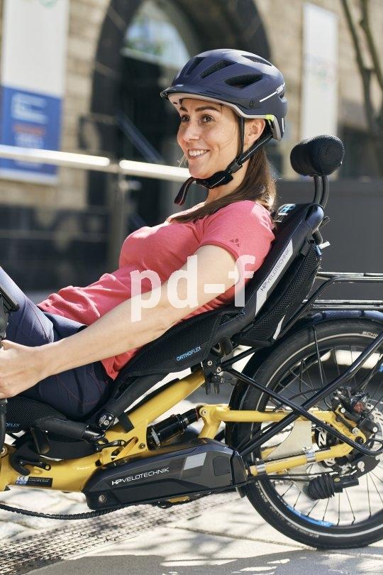Ein großer Vorteil des Liegerades ist der Sitzkomfort. Wegen der großen Kontaktfläche zum Rücken spielen Federung und Belüftung dabei eine wichtige Rolle.