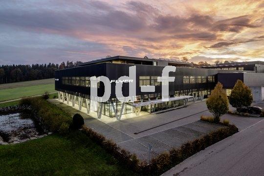 Die Schweizer E-Bike-Marke Flyer ist seit 25 Jahren am Markt. So sieht das Firmengebäude heute aus.