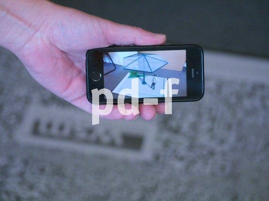 Augmented reality heißt die Möglichkeit, Dinge via App auf dem Smartphone als 3D-Darstellung zu sehen. Hier bei der App von WSM.