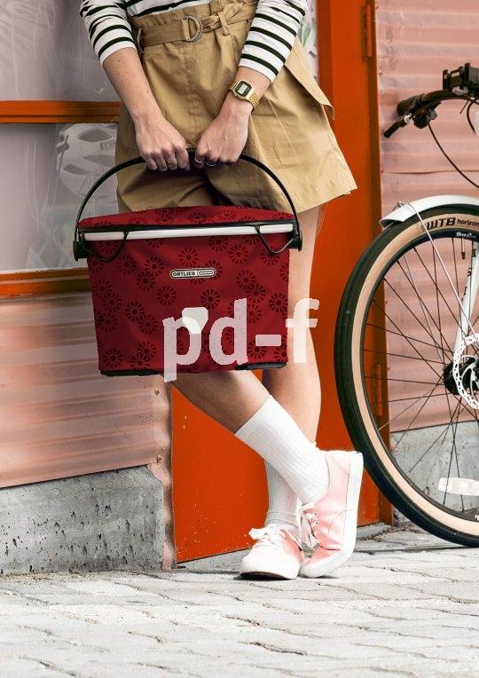"""Sehr praktisch war ein Fahrradkorb schon immer. Der """"Up-Town Design"""" von Hersteller Ortlieb ist zudem noch wasserdicht und schick. In vielen Farben erhältlich."""