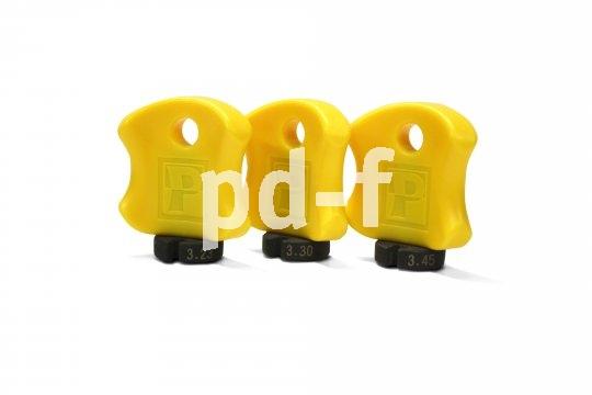 Der Nippelspanner muss genau auf den Speichennippel passen - es gibt unterschiedliche. Dieses Set von Pedro´s beinhaltet drei verschiedene Größen.