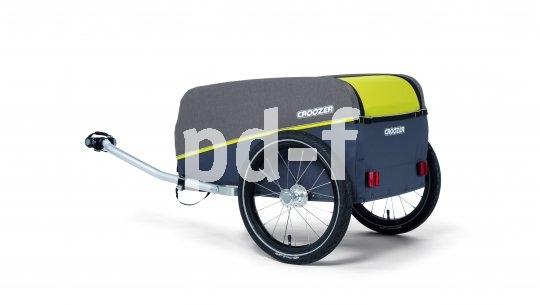 """Faltbare Anhänger wie das Modell """"Kalle"""" von Hersteller Croozer lassen sich bei Nichtgebrauch platzsparend unterbringen."""