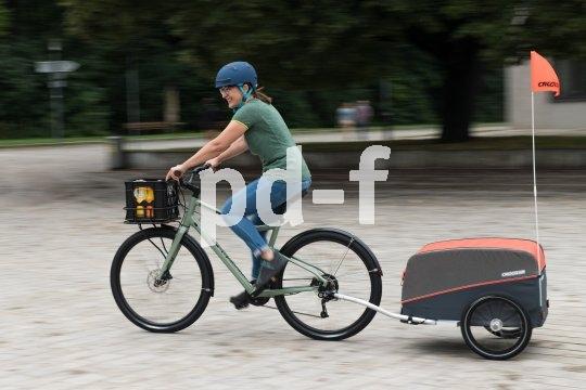Pfiffige, flexible Gepäcktransportlösungen ermöglichen den innerstädtischen Umstieg vom Auto auf das Fahrrad.