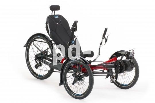 Neben aller Technik ist der Sitz mit seiner großen Kontaktfläche zum Fahrer der entscheidende Wohlfühlfaktor bei einem Liege-Trike. Hersteller HP Velotechnik bietet u.a. eine spezielle Ergomesh-Variante an.