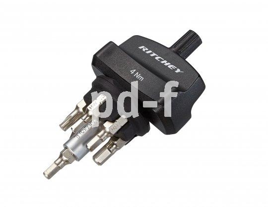 """Ritchey """"Torque Key"""" (19,90 Euro): Drehmomentschlüssel (4 Nm) mit sechs Bits."""