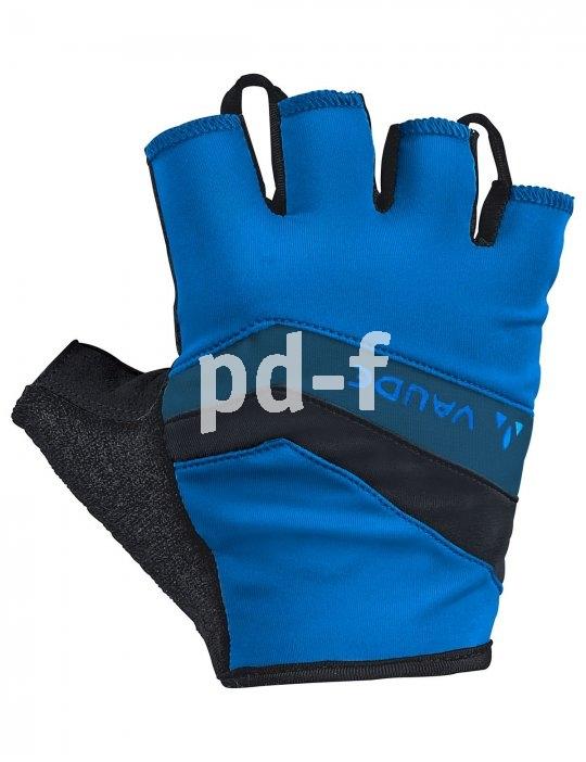 """Ein typischer Kurzhandschuh für den radsportlichen Gebrauch. Das Besondere an den """"Active Gloves"""" von Vaude: Sie werden aus recyceltem Polyamid hergestellt."""