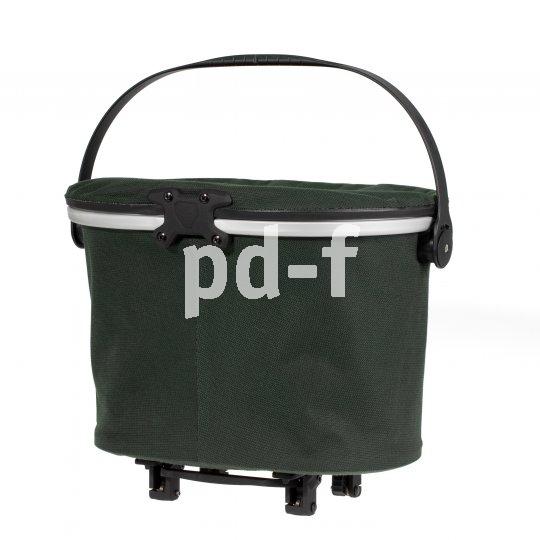 Leicht, stabil, wasserfest und mit einem Deckel versehen - dieses moderne Fahrradkorbkonzept kommt von Taschenspezialist Ortlieb.