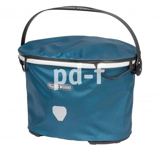 Taschenspezialist Ortlieb bietet für 2020 einen wasserdichten Lenkerkorb für das Citybike an. Der Deckel ist per Reißverschluss zu öffnen, innen gibt es eine kleine Seitentasche. Erhältlich in diversen Ausstattungen und Designs.
