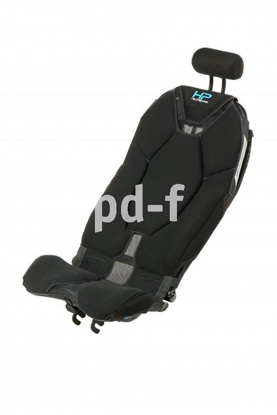 """Der neue Liegeradsitz """"Ergomesh Premium"""" von HP Velotechnik verbindet die Vorteile von Netz- und Schalensitz."""