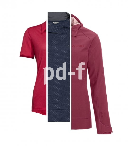 Radbekleidung besteht meist aus drei Schichten: innen eine eng anliegende Funtionsunterwäsche, darüber ein mehr oder weniger stark wärmendes Trikot (je nach Wetterlage), außen ein Windbraker oder/und Regenschutz.
