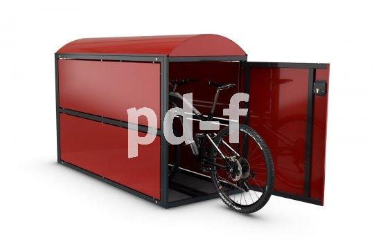 Hochwertige Alltagsräder und E-Bikes werden am besten in einer Fahrradbox geparkt. Dort stehen sie sicher und vor Witterungseinflüssen geschützt.