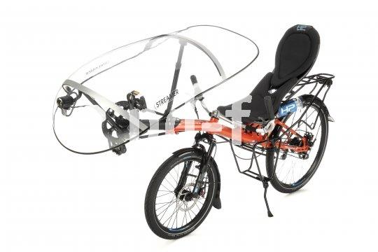 """Der """"Streamer"""" von HP Velotechnik ist in Wind- und Wetterschutz für das Liegerad, der sogar die Aerodynamik verbessert."""