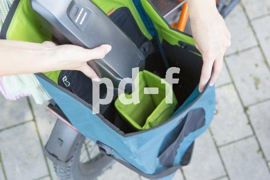 Für Radreisende und Pendler interessant: Eine Radtasche mit speziellem Akku-Fach.