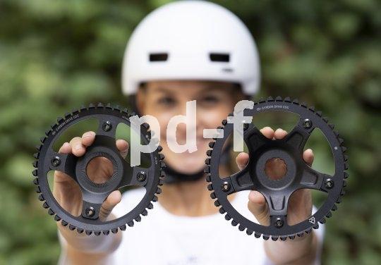 Riemenantrieb-Marktführer Gates bietet auch Riemen und Riemenscheiben für Mittelklasse-E-Bikes an. Sie sind mit der Oberklassen-Linie kompatibel.