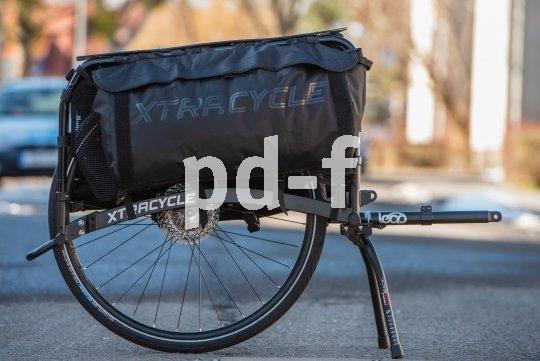 Von Xtracycle kommt eine Hinterbauverlängerung, die an viele Rahmen passt. Damit wird etwa aus einem Starr-MTB ein Lastenmuli.