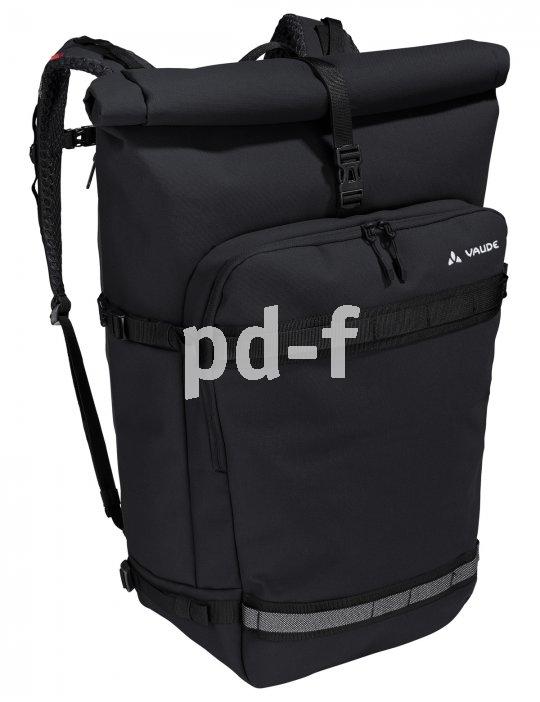 """Das """"Excycling Pack"""" von Hersteller Vaude ist ein mehr als 30 Liter fassender Rucksack mit vielen Fächern, die für Ordnung sorgen. Er lässt sich zudem mit einem LED-Lichtleiter versehen, was die Sicherheit im Dunklen beträchtlich erhöht."""