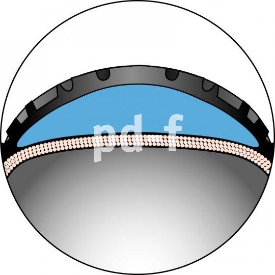 Die dicke Pannenschutzschicht hat keinen negativen Einfluss auf Rollwiderstand und Kurvenverhalten.