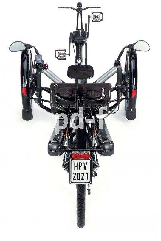 Als S-Pedelec aufgebaut (Motorunterstützung auch jenseits von 25 km/h) benötigt jedes Fahrzeug ein Versicherungskennzeichen.