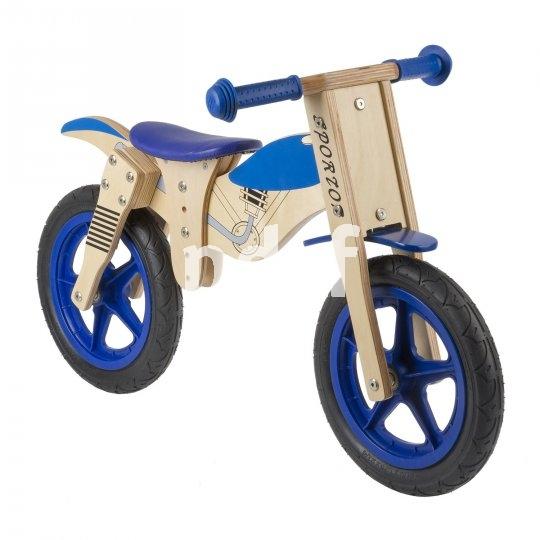 Laufräder sind heute für die meisten Kinder der Einstieg in das Rollen und Balancieren auf zwei Rädern. Ob Holz- oder Metallrahmen: Mitwachsen sollte das kleine Fahrzeug können, sonst bleibt es schnell wieder liegen. Dieses Modell von M-Wave kommt als Cross-Motorrad daher und lässt sich dem Wachstum des Piloten gut anpassen.