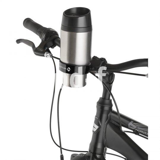 """Mit dem Lenkerhalter """"To Go"""" von M-Wave kommt der Kaffee endlich aufs Rad. Aber nur mit dem wiederverwendbaren Thermobecher bleibt er heiß und das Gewissen rein."""