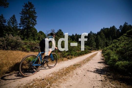 Wo der Asphalt endet fängt das Graveln an.. Mit dickeren Pneus und mehr Profil ist das Gravel-Bike auch in leichtem Gelände das Bike der Wahl.