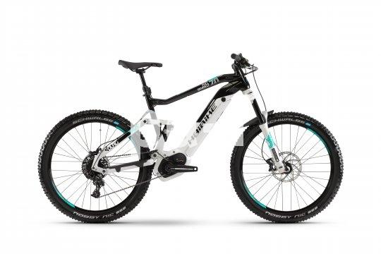 Wer ein E-Mountainbike mit 27,5´´-Reifen und 120 mm Federweg sucht, wird sich das Sduro Fullseven der Firma Haibike genauer ansehen. Konzipiert für leichtes bis mittleres Gelände.