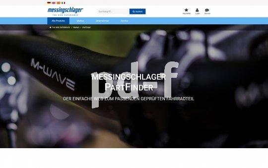 """Die interne Suchmaschine von Messingschlager namens """"Part Finder"""" (https://www.messingschlager.com/de/partfinder) hilft Endverbrauchern bei der Suche nach passenden Fahradteilen und bezieht dabei auch Faktoren wie Einsatzgebiet und zulässiges Systemgewicht ein."""