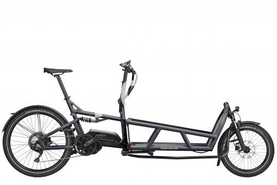 """Viel Technik steckt in modernen Cargobikes. Das """"Load 75"""" von Riese und Müller bringt seine Zuladung gefedert und mit elektrischer Unterstützung ans Ziel."""
