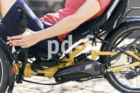 """Beim Liegerad ist die Kontaktfläche zwischen Mensch und Fahrrad besonders groß. Spezialist HP-Velotech bietet mit dem """"Ergomesh Premium"""" eine Verbindung aus Netzsitz und Hartschale, die sowohl für gute Belüftung wie für perfekte Anpassbarkeit sorgen soll."""